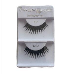 NWT the Creme Shop #15 Black 100% Human Hair Lashe